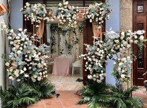 cổng hoa tiểu cảnh