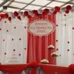 Phông cưới lụa hoa giấy