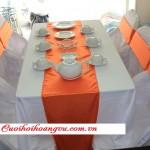 Bàn ghế cưới hỏi trắng cam