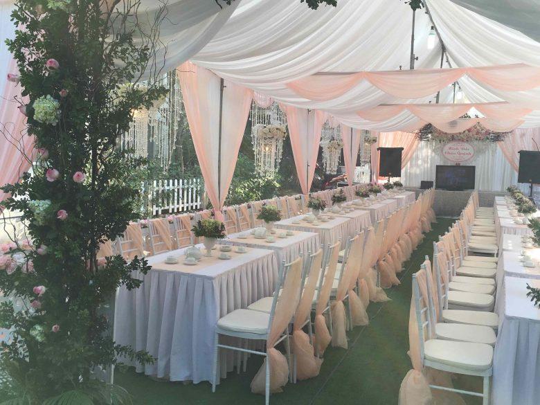 Nhà bạt đám cưới – Hàng rào
