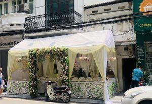 nhà bạt đám cưới, trang trí nhà bạt đón khách