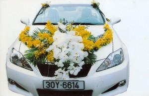 Hoa xe cưới, hoa xe, hoa cưới, hoa xe cuoi, hoa cuoi, xe hoa đám cưới, hoa xe đám cưới