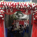 Cổng hoa giả đám cưới