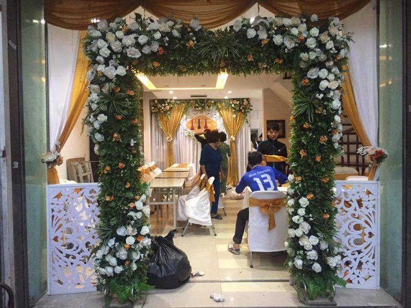 Cổng hoa giả, cổng hoa giả đám cưới, cổng cưới, cổng hoa giả đẹp, cổng hoa lụa đẹp