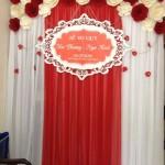Phông hoa giấy đám cưới