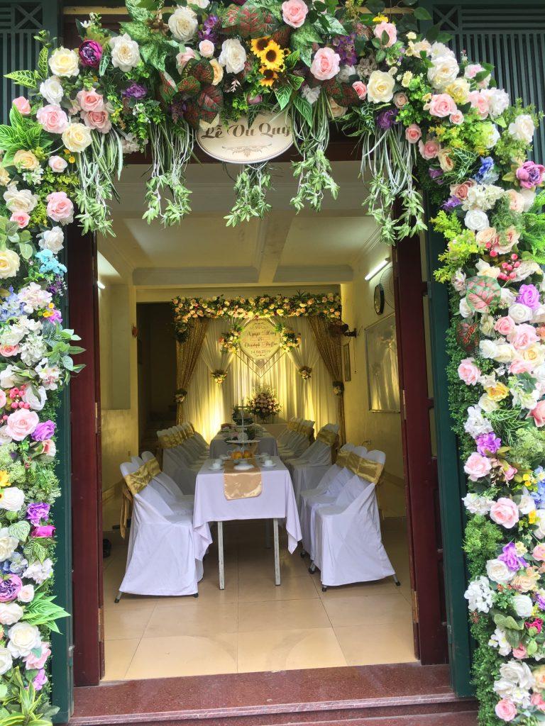 cổng hoa cưới hỏi Hoàng Vũ